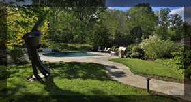 Poolside living and landscaping