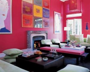 Pink Living Room Design